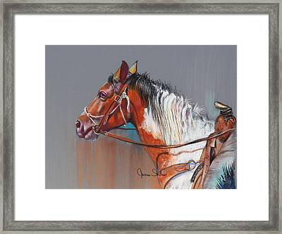 Get Along Home Susie Framed Print by James Skiles