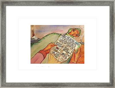 Get Rich Classifieds Humor Framed Print by Michael Shone SR