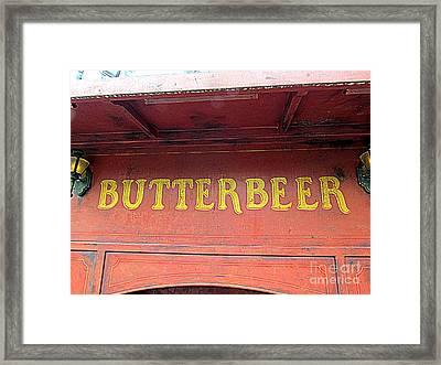 Get Your Butterbeer Framed Print by Elizabeth Dow