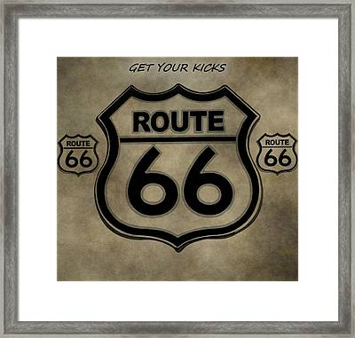 Get Your Kicks On Route 66 Framed Print by Dan Sproul