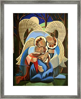 Gethsemane The Hour Is Near Framed Print by Anthony Falbo