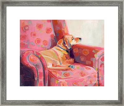 Getting Cozy Framed Print by Kimberly Santini