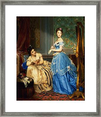 Getting Dressed, 1869 Framed Print by Charles Edouard Boutibonne