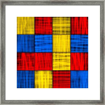 Getting Lost At The Intersection - Abstract Framed Print by Mark E Tisdale