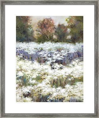 Getting Lost With Gold Leaf By Vic Mastis Framed Print by Vic  Mastis