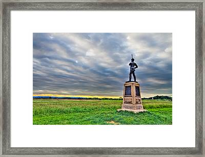 Gettysburg Battlefield Soldier Never Rests Framed Print by Andres Leon