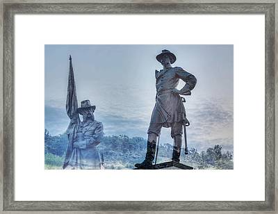 Gettysburg Battlefield Statues Framed Print by Randy Steele