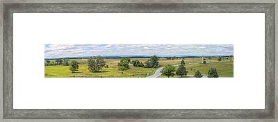 Gettysburg Panoramic From Top Of Pennsylvania Memorial Framed Print by Randy Steele