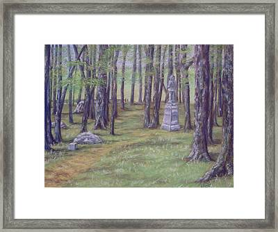 Gettysburg Pathway Framed Print by Joann Renner