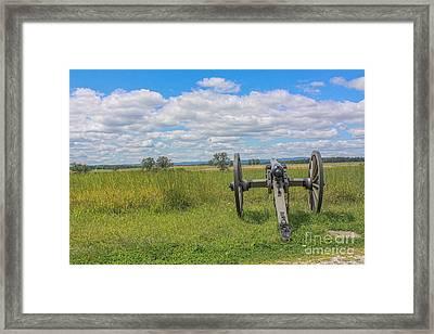 Gettysburg Summer Cannon Cemetery Ridge Framed Print by Randy Steele