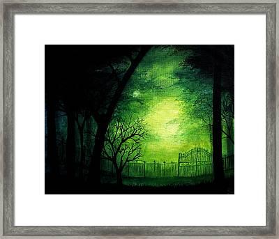 Ghastly Gate Framed Print by Erin Scott