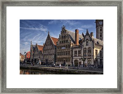 Ghent Guild Houses Framed Print by Joan Carroll