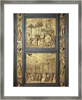 Ghiberti, Lorenzo 1378-1455. The Gates Framed Print by Everett
