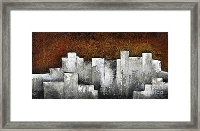 Ghost City Framed Print by Shadia Zayed