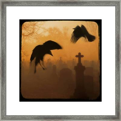 Ghost Crows 2 Framed Print by Gothicolors Donna Snyder