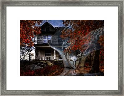 Ghost Framed Print by Debra and Dave Vanderlaan