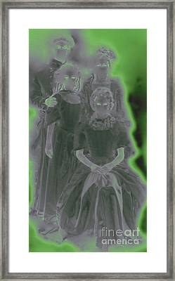 Ghost Family Portrait Framed Print by First Star Art