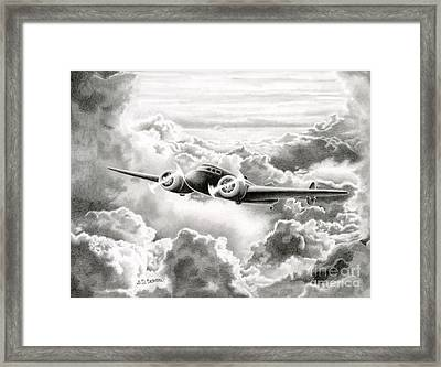 Ghost Flight- Amelia Earhart Framed Print by Sarah Batalka