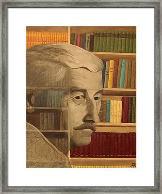 Ghost In The Library  William Faulkner Framed Print by Patrick Kelly