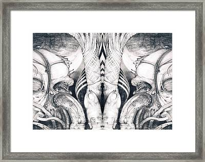 Ghost In The Machine - Detail Mirrored Framed Print by Otto Rapp