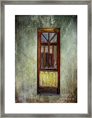Ghost In The Window Framed Print by Janice Rae Pariza