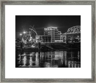 Ghost Of East Bank Reflecting In Water Framed Print by Robert Hebert