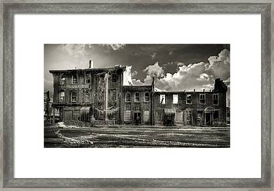 Ghost Of Our Town Framed Print by Jaki Miller