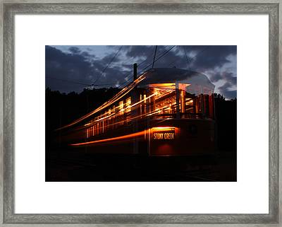 Ghost Of Trolleys Past I Framed Print by Jim Poulos