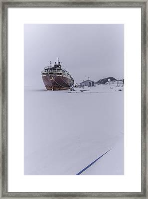 Ghost Ship Framed Print by Everet Regal