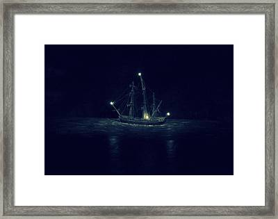 Ghost Ship Framed Print by Laurie Perry
