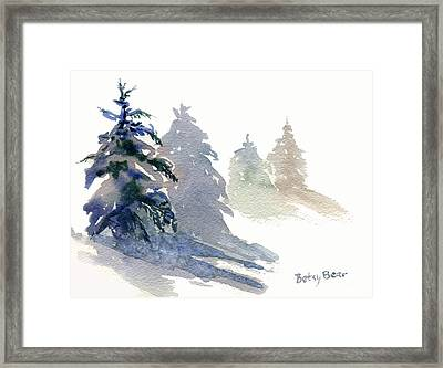 Ghost Spruce Framed Print by Betsy Bear