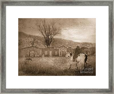 Ghost Town #2 Framed Print by Betty LaRue