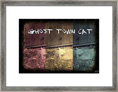 Ghost Town Cat Framed Print by Absinthe Art By Michelle LeAnn Scott