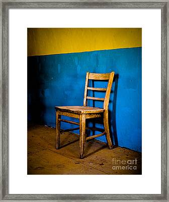 Ghost Town Chair Framed Print by Sonja Quintero
