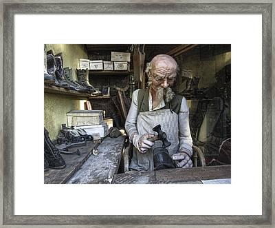 Ghost Town Cobbler - Virginia City - Montana Framed Print by Daniel Hagerman