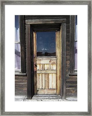 Ghost Town Handcrafted Door Framed Print by Daniel Hagerman