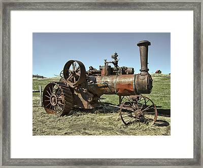 Ghost Town Steam Tractor Framed Print by Daniel Hagerman