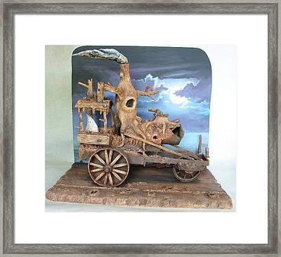 Ghost Tractor Framed Print by Stuart Swartz