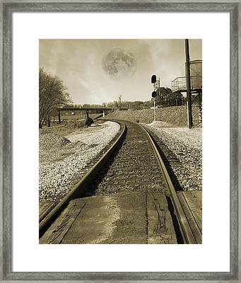 Ghost Train Framed Print by Betsy Knapp