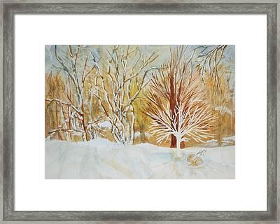 Ghost Tree Framed Print by Ellen Levinson