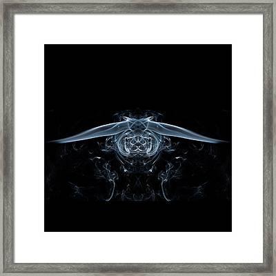 Ghostly Owl Framed Print by Steve Purnell