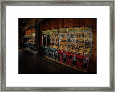 Ghosts Of The Arcades Play Here At Night Framed Print by Doc Braham