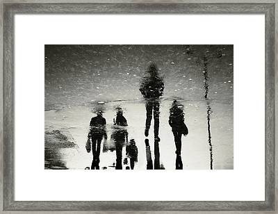 Ghosts Of The City Framed Print by Cambion Art