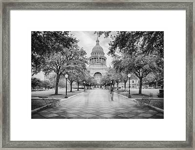Ghosts Of The Texas State Capitol - Austin Texas Skyline Framed Print by Silvio Ligutti