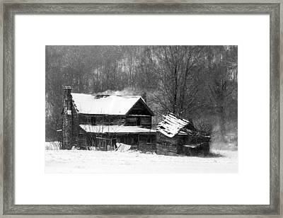 Ghosts Of Winters Past Framed Print by John Haldane