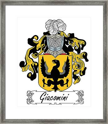 Giacomini Coat Of Arms Di Firenze Framed Print by Heraldry