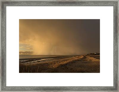 Giant Snow Cloud Framed Print by Dapixara Art