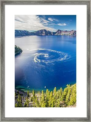 Giant Swirl Phenomenon Framed Print by Pierre Leclerc Photography