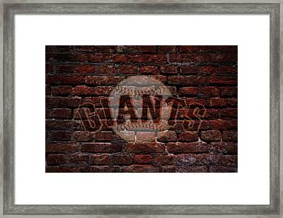 Giants Baseball Graffiti On Brick  Framed Print by Movie Poster Prints