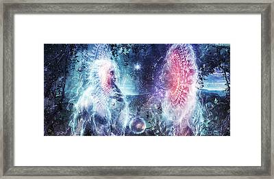 Giants Of The Sun Framed Print by Cameron Gray
